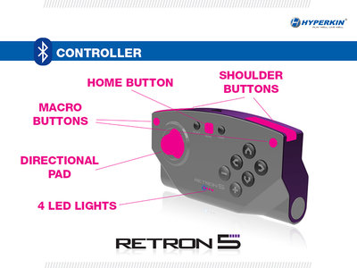 Pad BlueTooth de la RetroN 5.