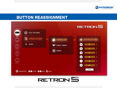 Interface de la RetroN 5.
