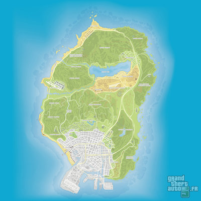GTA V - Carte atlas.