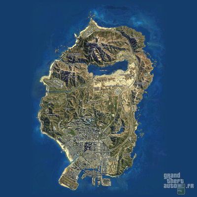 GTA V - Carte satellite.