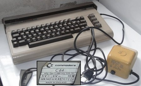 Ordinateur Commodore 64.
