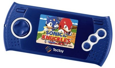 Tectoy MD Play bleue/blanche.