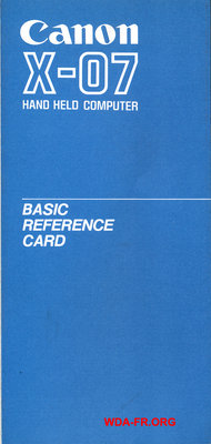 BASIC REFERENCE CARD