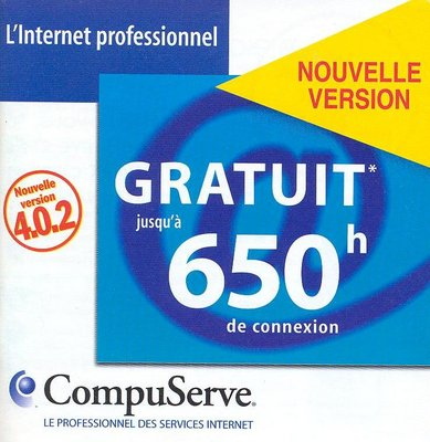 Kit de connexion CompuServe version 4.0.2 - (recto)