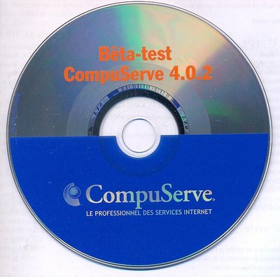 CD Bêta-test CompuServe version 4.0.2
