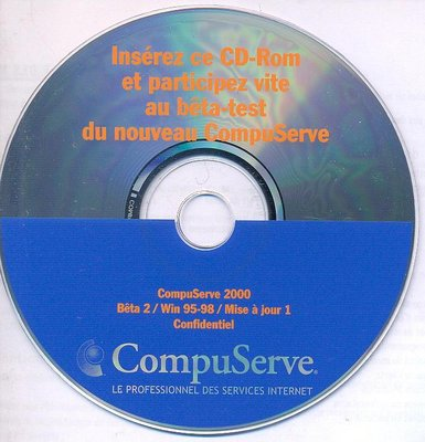 "CD Bêta-test ""CompuServe 2000"" - 1999 (?)"